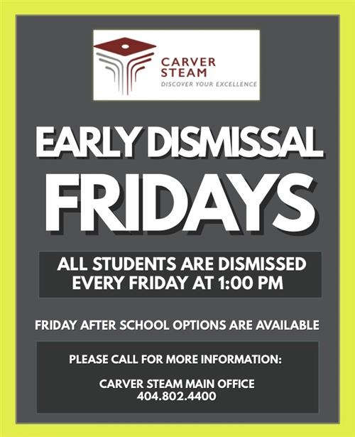 Carver STEAM Early Dismissal