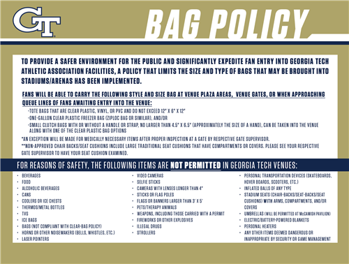 Bag Policy 1