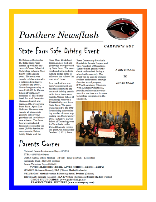 Panther Newsflash