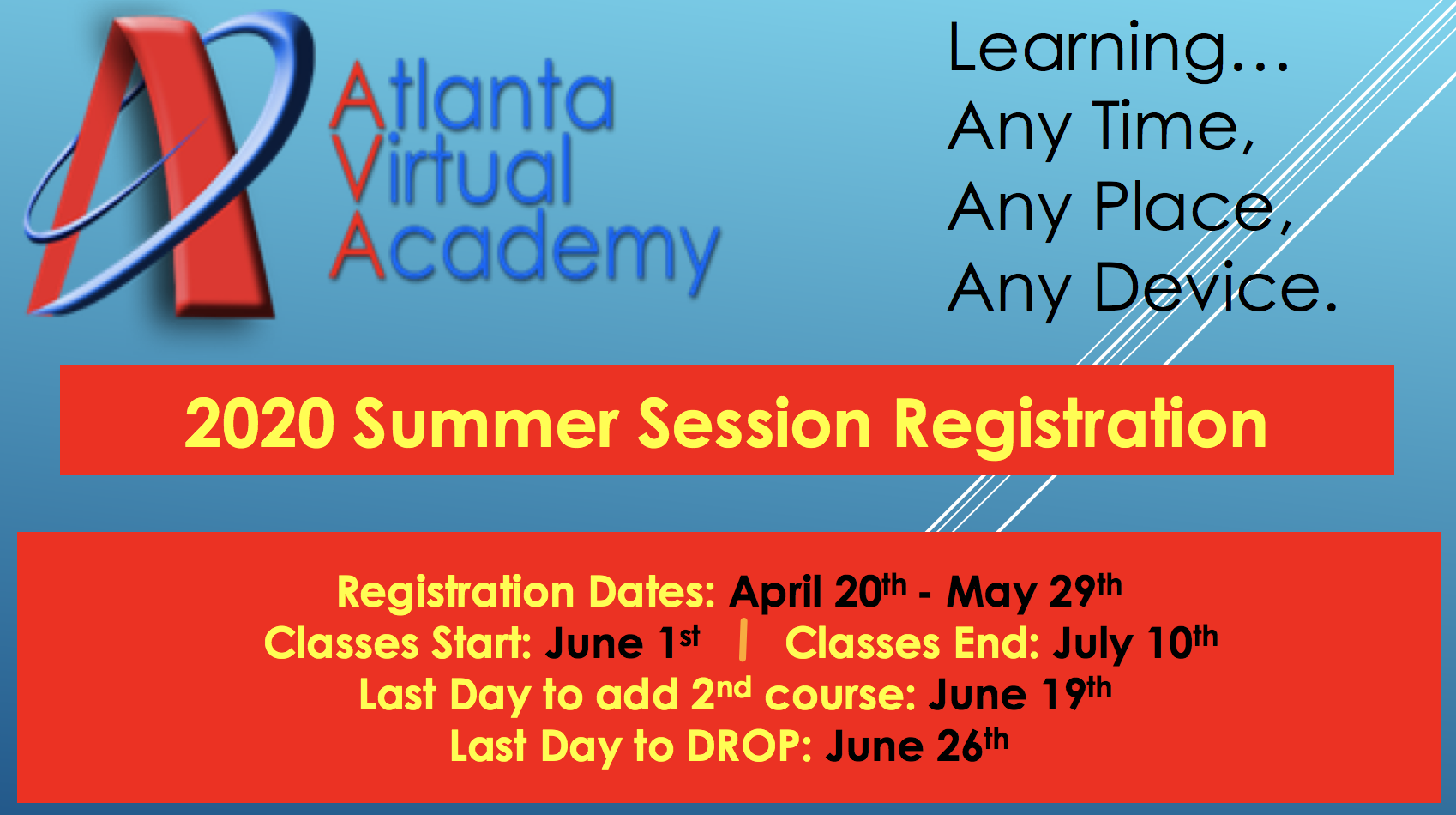 AVA 2019 Summer Registration