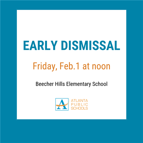 Early Dismissal - Friday, Feb. 1 at noon