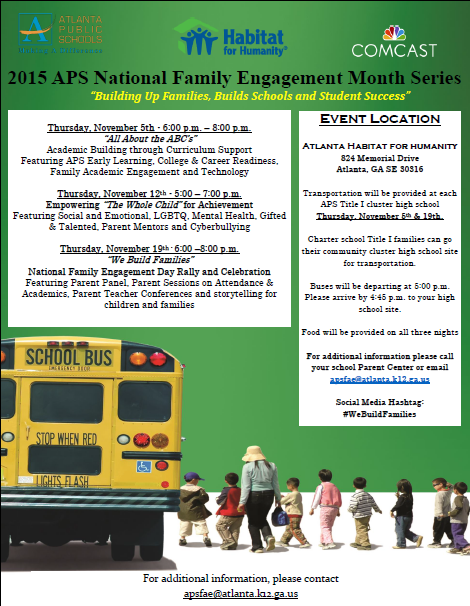 District Family Engagement Month