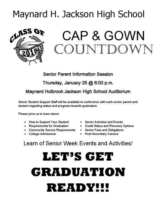 cap and gown countdown