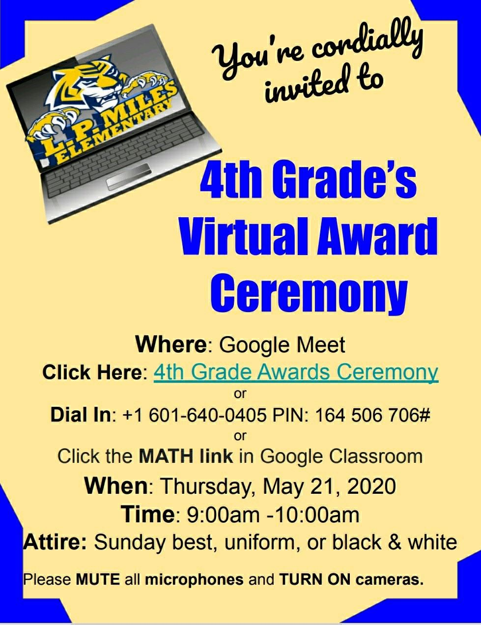 In Case you Missed it - 4th Grade Virtual Completion Day!