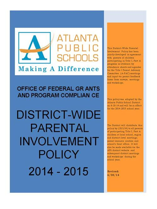 DISTRICT-WIDE PARENTAL INVOLVEMENT POLICY