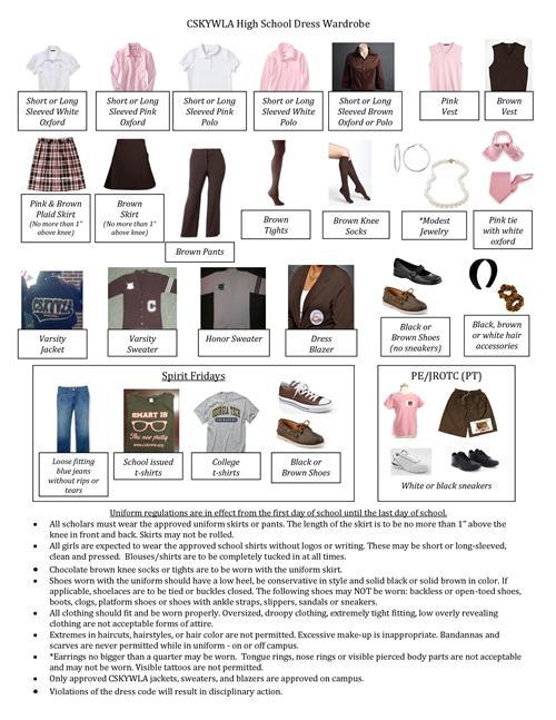 Dress Code School Dress Code Wardrobe Policy