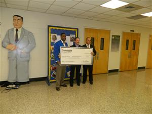 Watkins and ASIS check presentation