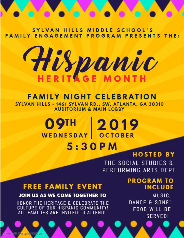 Hispanic Heritage Month Flyer 2019