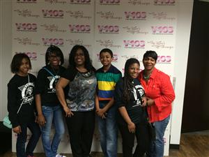 Sylvan Morning Broadcast students was on V-103