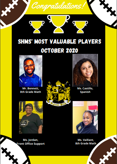 Most Valuable Players- October 2020