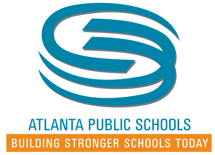 Flex Options logo - Blue swirl with words captioned: Atlanta Public Schools Flexibility Options - Building Stronger Schools T