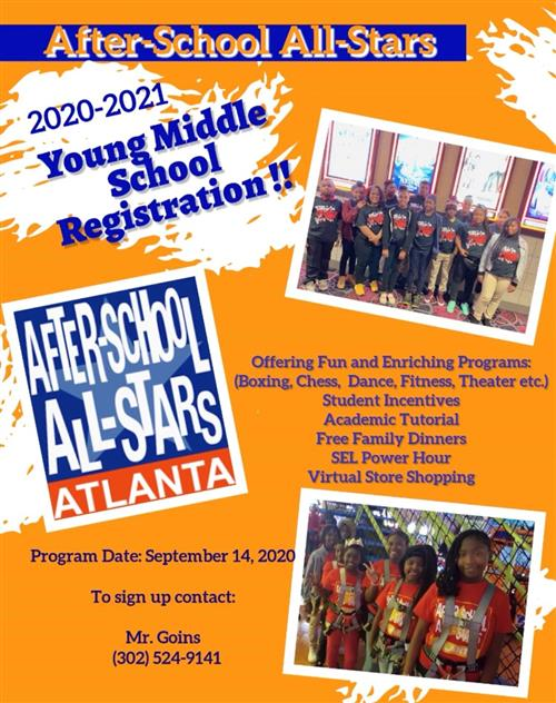 After-School All-Stars Program for Fall 2020
