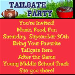 Homecoming Tailgate Sept. 30th