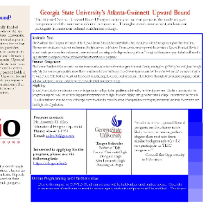 Georgia State University's Atlanta-Gwinnett Upward Bound