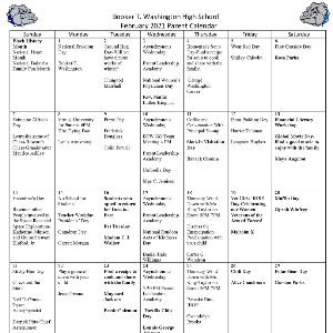 BTW Parent Liaison Calendar