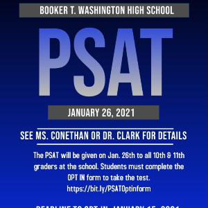 PSAT Testing (Click here to Opt In)