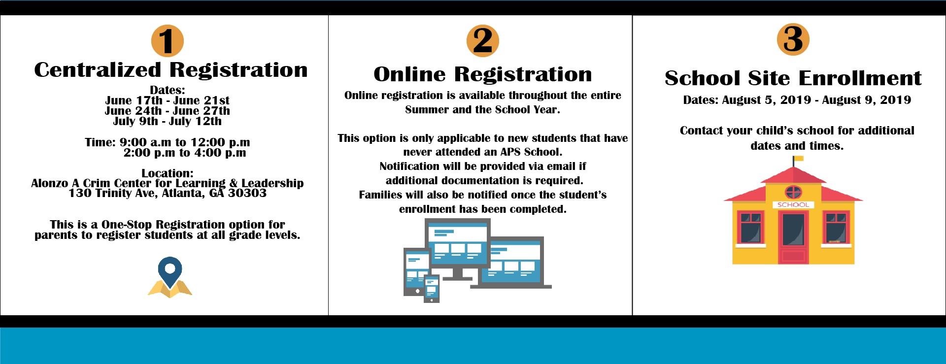 Enrollment & Registration / Summer Registration Options