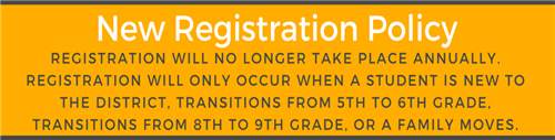 New Registration Policy