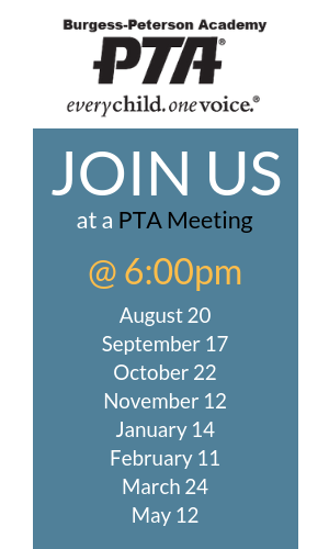 2019-2020 PTA Meetings