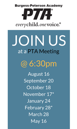 Join us at a PTA Meeting
