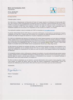 Superintendent Letter in Spanish